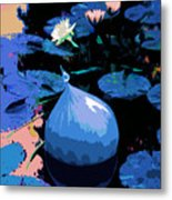 Blue Evening On The Pond Metal Print