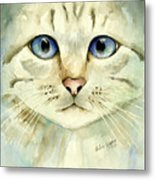 Blue-eyed Cat Metal Print