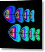 Blue Fishes Metal Print