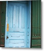 Blue Home Metal Print