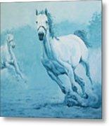 Blue Horses Metal Print