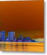 Blue Hour Honolulu Metal Print