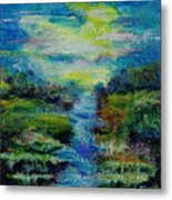 Blue Landscape. Metal Print