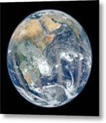Blue Marble 2012 - Eastern Hemisphere Of Earth Metal Print