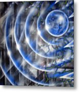 Blue Moon Falling Metal Print