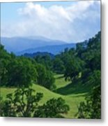 Blue Mountains Green Pastures Metal Print