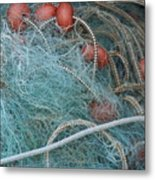 Blue Net Metal Print