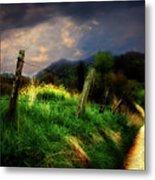 Blue Ridge Mountain Country Road Metal Print