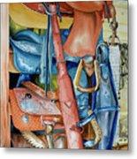 Blue Saddle Metal Print