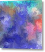 Blue Sky Painting Metal Print