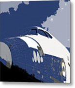 Blue Sky Shuttle Metal Print