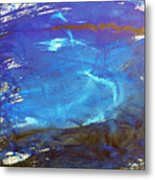 Blue Space Water Metal Print