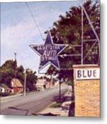 Blue Star Auto Metal Print