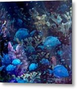 Blue Tang Sea Fan   Metal Print