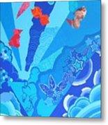 Blue That Surrounds Me Metal Print