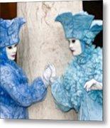 Blue Twins Metal Print