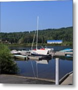 Blue Water Boats Metal Print