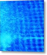 Blue Water Grid Abstract Metal Print