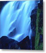 Blue Waterfall Metal Print