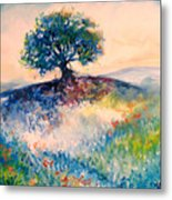 Bluebonnet Hill Metal Print