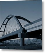 Blued Bridge Metal Print