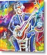 Blues Man Metal Print by M C Sturman