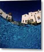 Blurred View Of A Hotel From Underwater Metal Print