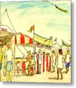 Boardwalk Artshow Virginia Beach Metal Print