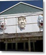 Boardwalk Clowns Metal Print