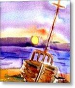 Boat Ashore Metal Print