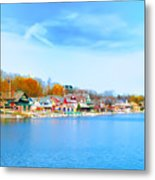 Boat House Row From West River Drive Metal Print