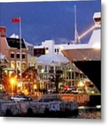 Boat Is In On Front Street Metal Print