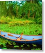 Boat On Bryant Pond Metal Print