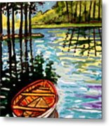 Boat On The Bayou Metal Print