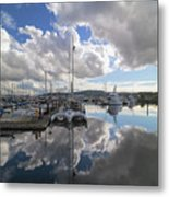 Boat Slips At Anacortes Cap Sante Marina In Washington State Metal Print