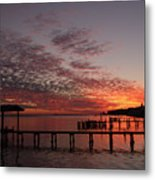 Boathouse Sunset Metal Print