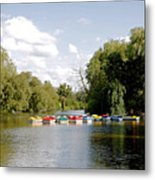 Boats On Markeaton Lake Metal Print