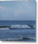 Boats On The Horizon Metal Print