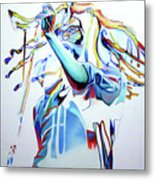 Bob Marley Colorful Metal Print
