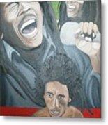 Bob Marley Montage Metal Print