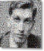 Bobby Fischer Chess Mosaic Metal Print by Paul Van Scott