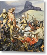 Boers And Natives Metal Print