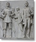 Bonham And Bowie On Alamo Monument Metal Print