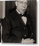 Booker T. Washington 1856-1915, Became Metal Print