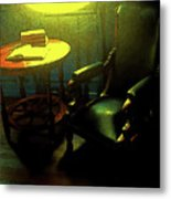 Books Tabel And Chair Metal Print