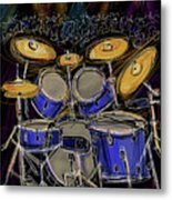 Boom Crash Metal Print