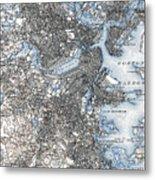 Boston Map, 1903 Metal Print
