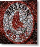 Boston Red Sox Bottle Cap Mosaic Metal Print