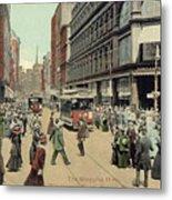 Boston: Washington Street Metal Print by Granger