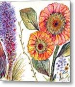Botanical Flower-49 Metal Print